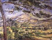 Paul Cezanne villages and mountains oil painting reproduction