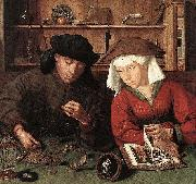 Quentin Matsys The Moneylender and his Wife oil painting reproduction
