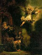 REMBRANDT Harmenszoon van Rijn The Archangel leaving Tobias, oil painting reproduction