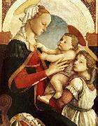 Sandro Botticelli Madonna and Child with an Angel oil painting reproduction