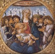 Sandro Botticelli Our Lady of the eight sub angel painting