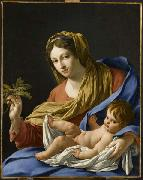 Simon Vouet Hesselin Virgin and Child painting