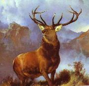 Sir edwin henry landseer,R.A. Monarch of the Glen by Sir Edwin Landseer oil painting reproduction