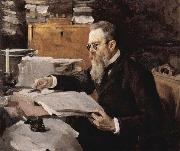 Valentin Serov Portrait of Nikolai Rimsky Korsakov 1898 china oil painting reproduction