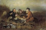 Vasily Perov The Hunters at Rest china oil painting reproduction