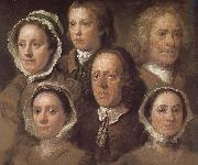 William Hogarth Hogarth s six servants painting