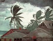 Winslow Homer Hurricane painting