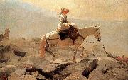 Winslow Homer Hakusan in horse riding trails painting