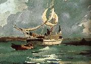 Winslow Homer Sailing oil painting reproduction