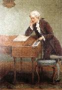 antonin dvorak a romantic artist s impression of mozart composing oil painting reproduction
