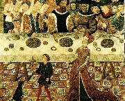 catalan school banquet of herod oil on canvas