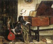charles burney the harpsichordist oil on canvas