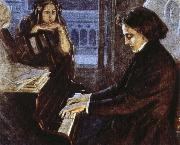 oscar wilde an artist s impression of chopin at the piano composing his preludes oil on canvas