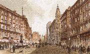 richard wagner the graben, one of the principal streets in vienna oil