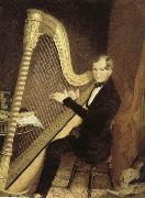 unknow artist an early 19th century pedal harp player china oil painting reproduction