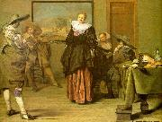 CODDE, Pieter The Dancing Lesson oil painting reproduction