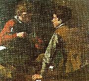 Caravaggio card-players, c china oil painting reproduction