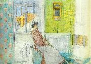 Carl Larsson martina-paus i stadningen oil painting reproduction