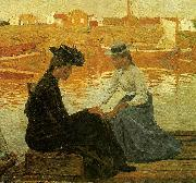 Carl Wilhelmson viken china oil painting artist
