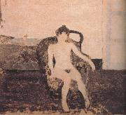 Edouard Vuillard In the armchair naked female oil painting reproduction
