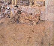 Edouard Vuillard Howe Chancellor and her dog painting