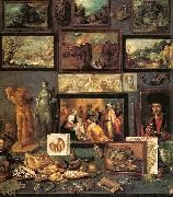 Frans Francken II Art Room oil