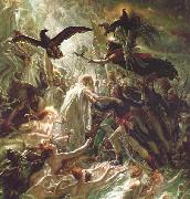 Girodet-Trioson, Anne-Louis Ossian receiving the Ghosts of the French Heroes oil on canvas