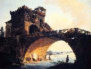 Hubert Robert Dimensions and material of painting oil on canvas