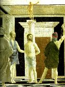 Piero della Francesca the flagellation, detail oil painting reproduction