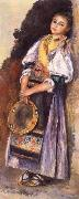 Pierre Auguste Renoir Italian woman witb Iambourine oil painting reproduction