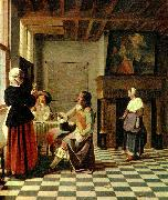 Pieter de Hooch interior oil painting reproduction