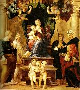 Raphael far right madonna del baldacchino oil painting reproduction