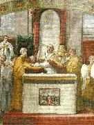 Raphael oath of pope leo 111fresco detail painting