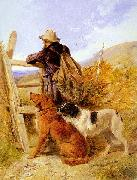 Richard ansdell,R.A. The Gamekeeper oil