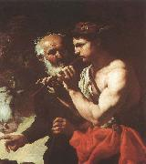 unknow artist Mercury Piping to Argus before china oil painting reproduction