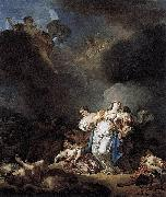 Anicet-Charles-Gabriel Lemonnier Niobe and her children killed by Apollo et Artemis oil on canvas