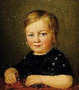 Anonymous Child with toy figures oil painting reproduction