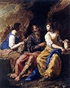 Artemisia gentileschi Lot and his Daughters oil painting reproduction