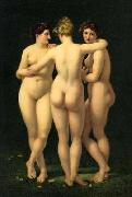 Baron Jean-Baptiste Regnault The Three Graces oil