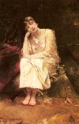 Benjamin Constant Contemplation oil on canvas
