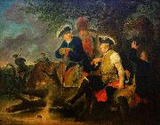 Bernhard Rode Frederick the Great and the Combat Medic, oil