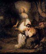 Carel fabritius Hagar and the Angel painting