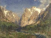 Carl jun. Oesterley Im Tal der Ramaels oil on canvas