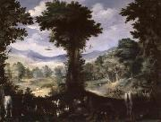 Carlo Antonio Procaccini Garden of Eden oil on canvas