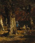 Charles Jacque The Old Forest oil on canvas