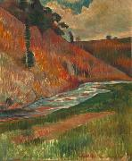Charles Laval The Aven Stream oil on canvas