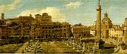 Charles Lock Eastlake view of the forum of trajan rome oil on canvas