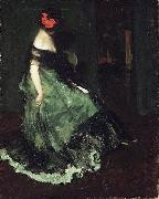 Charles Webster Hawthorne Red Bow oil on canvas