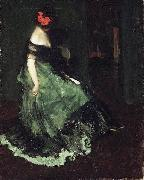 Charles Webster Hawthorne The Red Bow oil on canvas