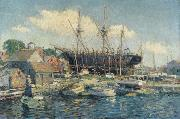 Clifford Warren Ashley A Whaleship on the Marine Railway at Fairhaven oil on canvas